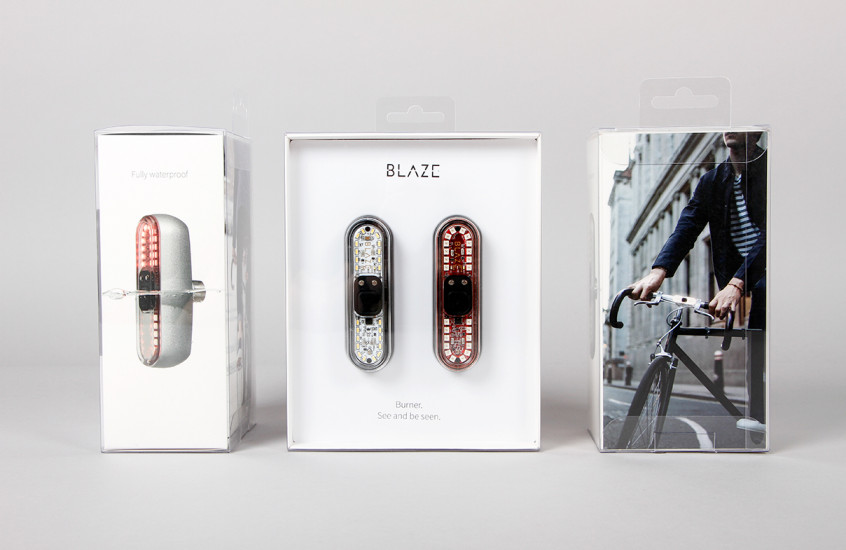 Blaze - Bike Light Set — Clean and simple packaging for the high performance Burner bike lights.