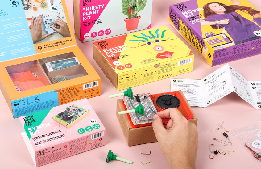 Technology Will Save Us - DIY Toy Kits — Packaging designed for the fun and creative Technology Will Save Us.