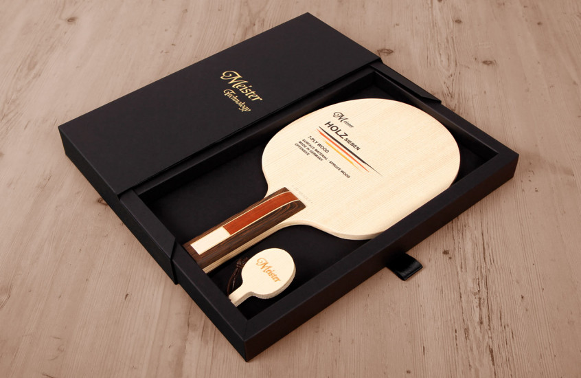 TT Tuning - Table Tennis — Deluxe packaging for a table tennis bat.
