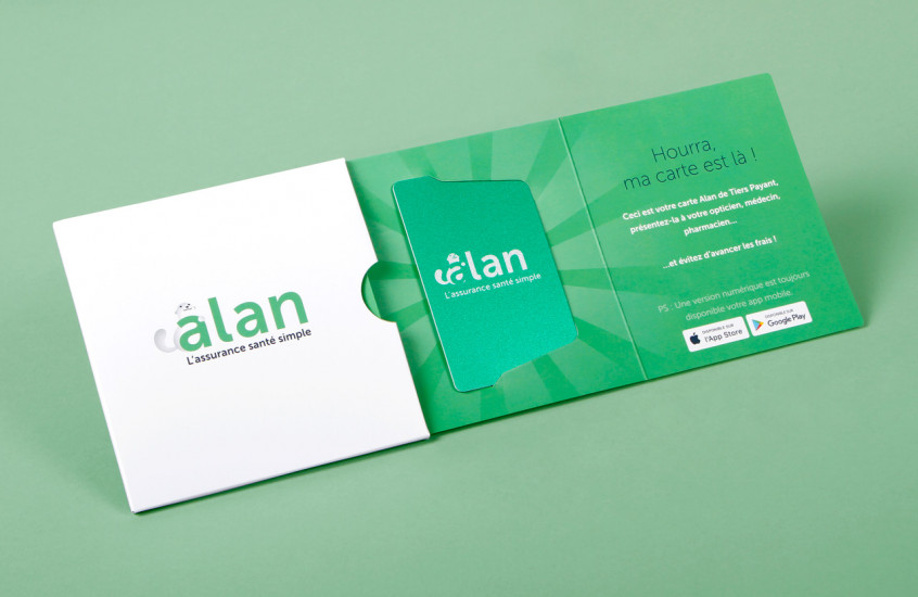 Alan - Health Insurance — Welcome pack for alan customers health insurance card.