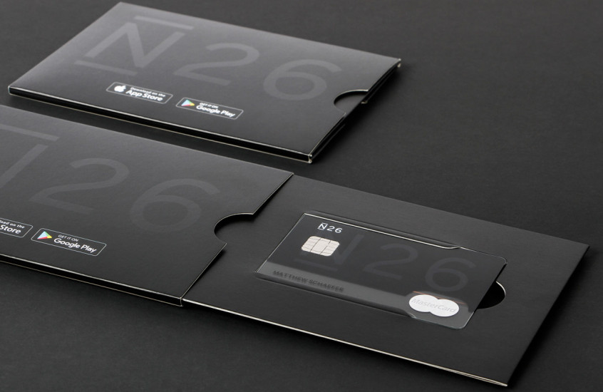 N26 - Bank Card — Packaging for a bank card.