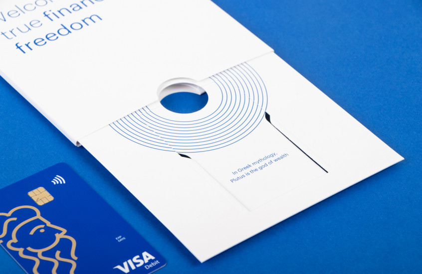 Plutus - Bank Card — A paired back design to give brand focus