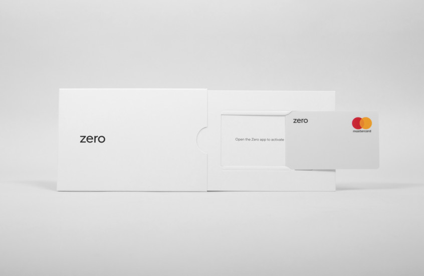 Zero - Bank Card — A very minimal yet impactful design