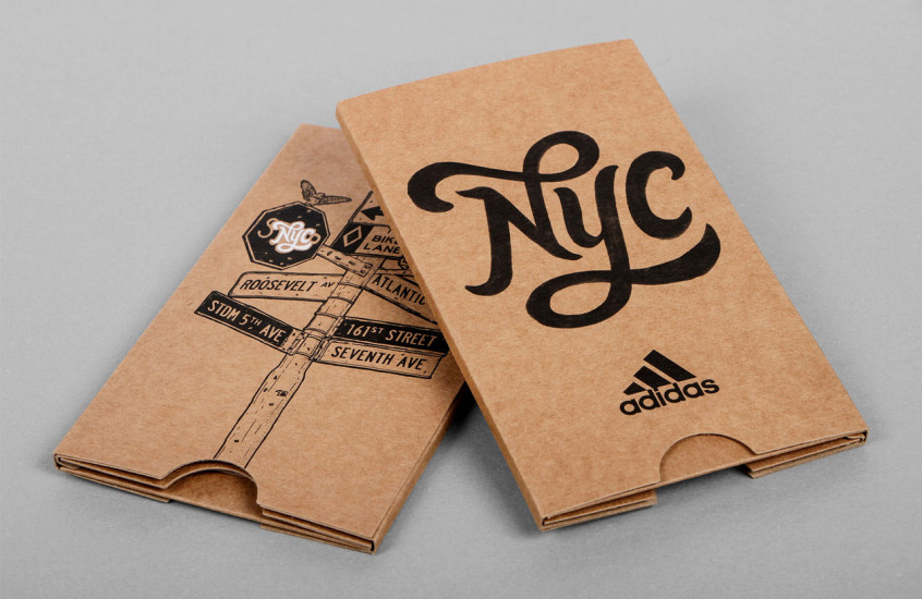 Adidas - NYC — Store opening promotional packaging.