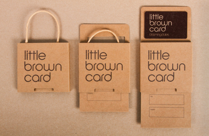 Bloomingdales - Little Brown Card — Our design for Bloomingdales is now a core part of the 'little brown' range. Extending the Brand from product to giftcard enhances the exchange experience, creating added value and building on brand loyalty.