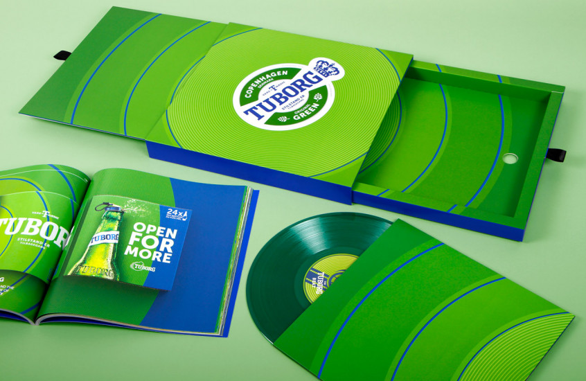 Tuborg - Promotional Vinyl — Promotional packaging for a 12