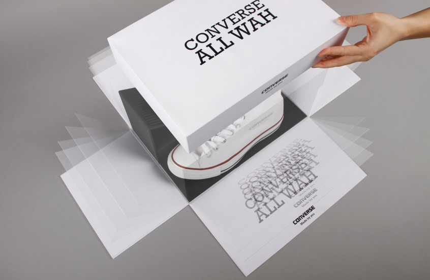 Converse - All Wah — Promotional packaging.