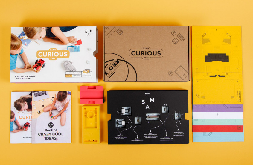 SAM Labs - Curious Studio — Packaging for the Curious kit.