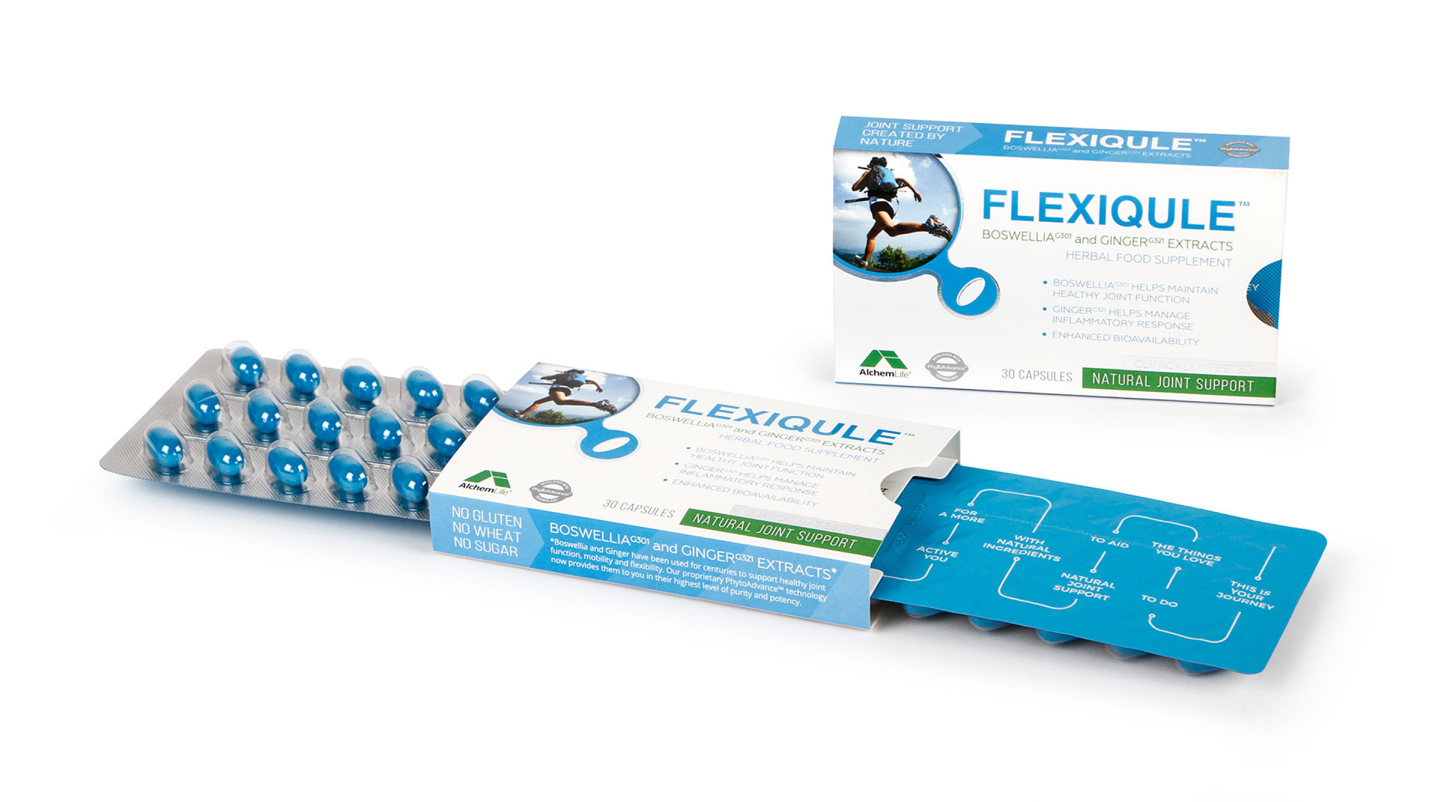 Alchem Flexiqule Supplement Blister Packaging